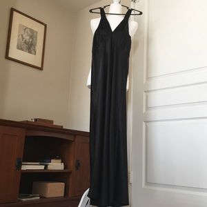 Fredericks of Hollywood M Black Silky Nightgown